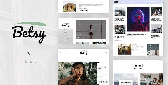 Betsy – A Clean WordPress Blog Theme TFx