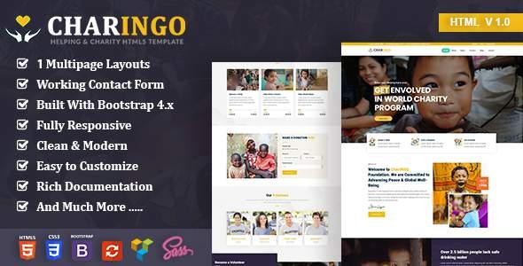 Charingo - Nonprofit Charity HTML5 Template TFx