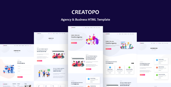 Creatopo - Agency and Business HTML5 Template TFx