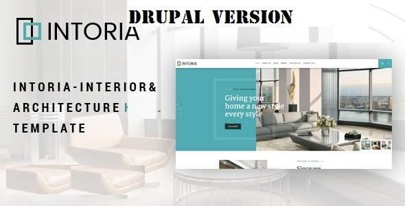 Intoria - Interior amp Architecture Drupal 8 Theme TFx