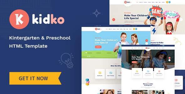 Kidko – Kindergarten amp Baby Care HTML Template TFx
