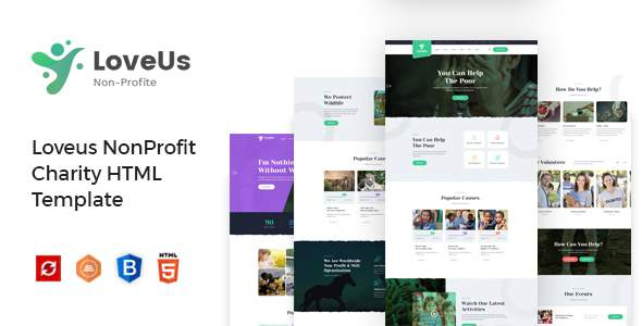 Loveus - Charity NonProfit HTML Template TFx