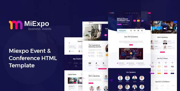 MiExpo  Event Conference HTML Template TFx
