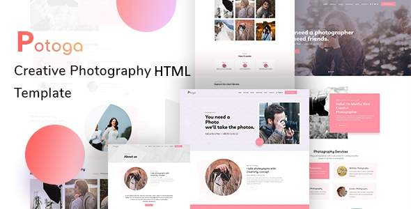 Potoga - Photography HTML Template TFx SiteTemplates
