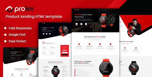 Prolex – Product Landing Page Template TFx