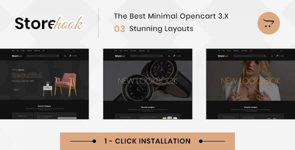 Storehook Minimal - Responsive Opencart 30 Theme TFx