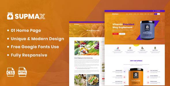 Supmax – Health Supplement Landing Page TFx