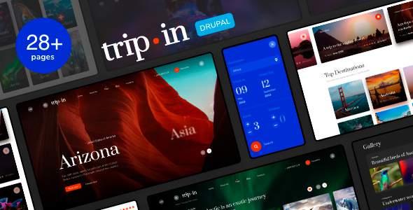 Tripin - Travel amp Tourism Agency Drupal Theme TFx