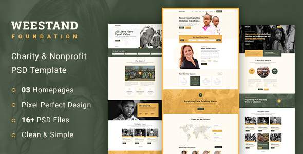Weestand - Charity PSD Template TFx PSDTemplates