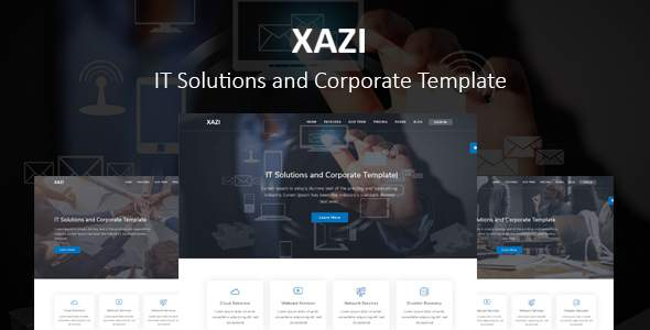Xazi - IT Solutions and Corporate TFx SiteTemplates