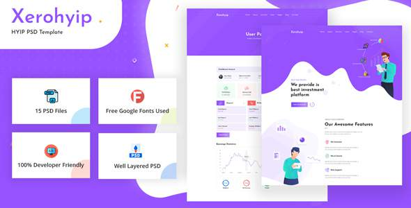 Xerohyip – HYIP Investment Website PSD Template TFx