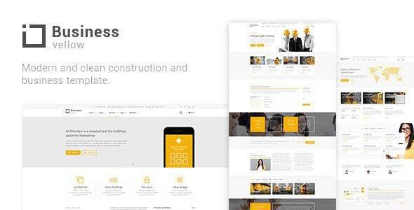 Yellow Business - Construction Drupal 8 Theme TFx