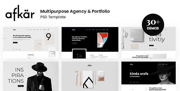 Afkar – Creative Agency amp Portfolio PSD Template TFx