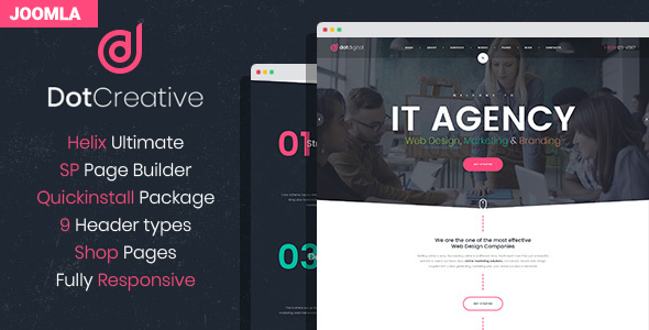 DotCreative  Web Design Agency Joomla Template TFx