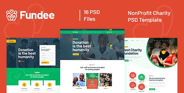 Fundee - NonProfit Charity PSD Template TFx