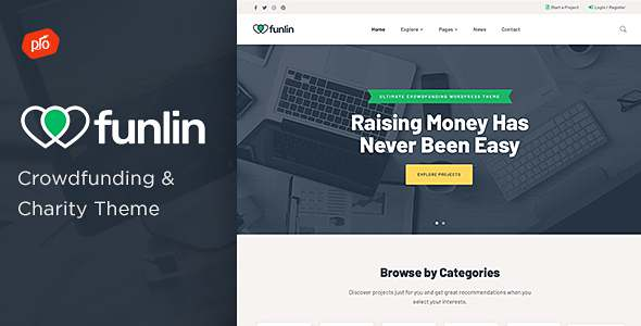 Funlin – Crowdfunding amp Charity Theme TFx