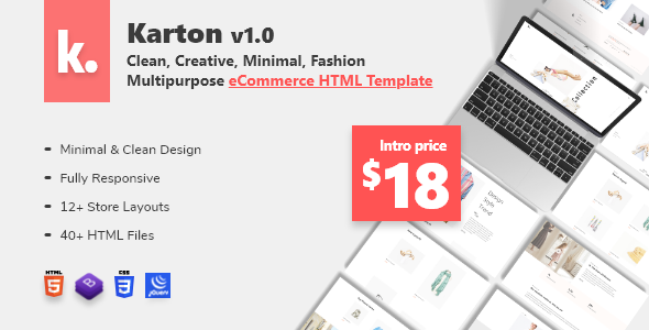 Karton  Fashion and Minimal Multipurpose eCommerce HTML5 Template TFx