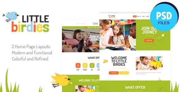 Little Birdies  Multipurpose Children PSD Template TFx