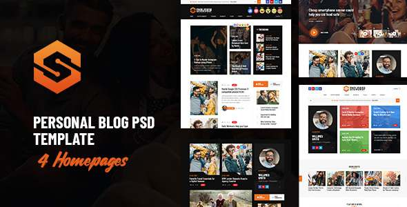 Snowdrop - Personal Blog PSD Template TFx