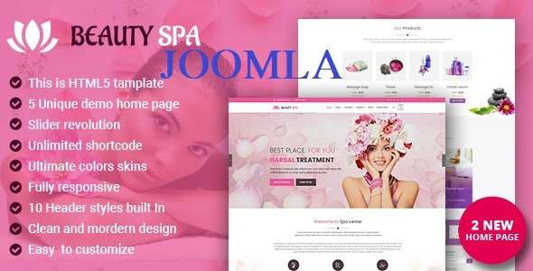 Spa Beauty Salon Joomla Template TFx Joomla