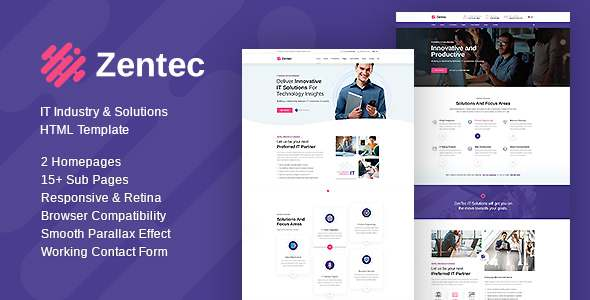 Zentec – IT Solutions and Services Company Template TFx