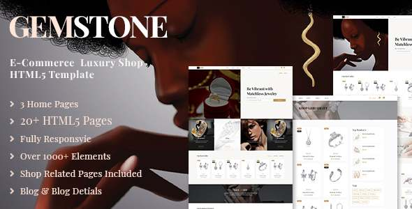 Gemstone  E-Commerce HTML Template TFx SiteTemplates