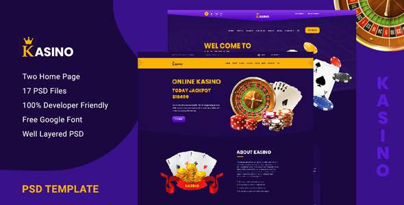 Kasino - Casino PSD Template TFx PSDTemplates