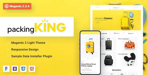 PackingKing – Travel Bags Store Magento Theme TFx