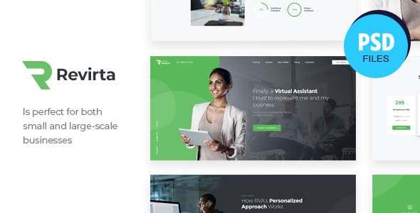 Revirta  Personal Virtual Assistant amp Secretary PSD Template TFx