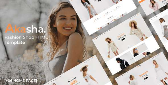 Akasha – Fashion Shop HTML Template TFx