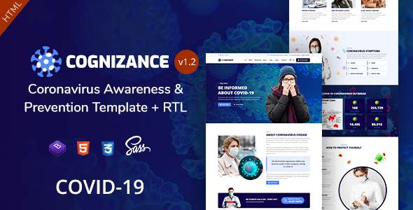 Cognizance – Coronavirus Awareness amp Prevention Template TFx