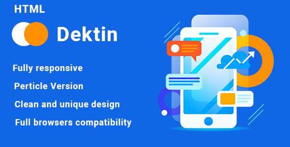 Dektin – App Landing Page TFx SiteTemplates