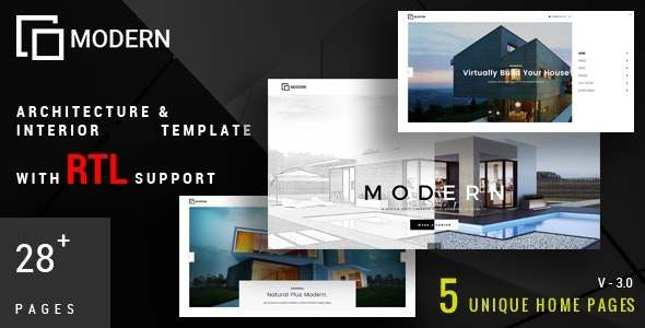 Modern - Architecture amp Interior Drupal 8 Theme TFx