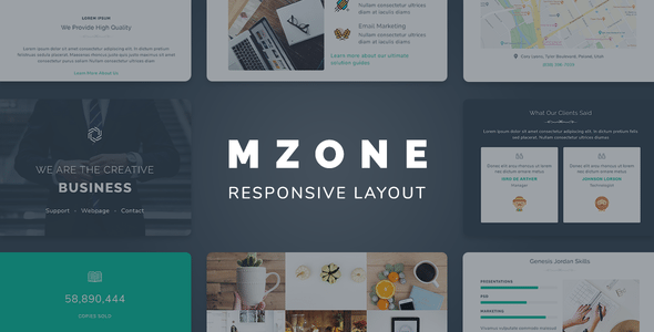 Mzone Responsive Newsletter Email Template For Business TFx