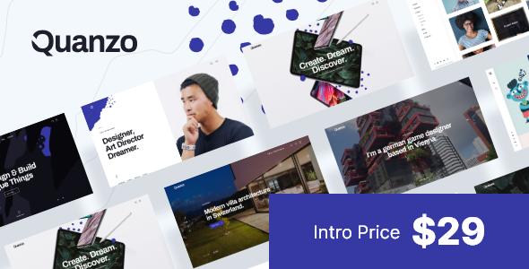 Quanzo – Personal Portfolio WordPress Theme TFx