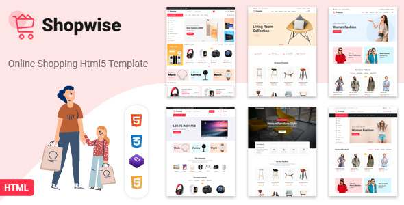 Shopwise – eCommerce Bootstrap 4 HTML Template TFx