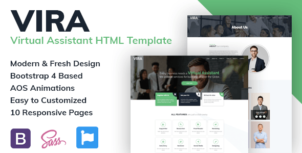 VIRA – VIrtual Assistant HTML Template TFx
