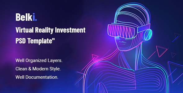 Belki - Virtual Reality Investment PSD Template TFx