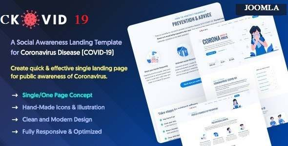 CKOVID19  Coronavirus Prevention amp Awareness Joomla Template TFx