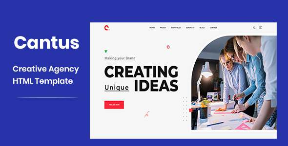 Cantus - Responsive Agency Landing Page Template TFx