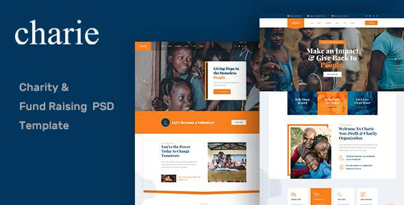 Charie Fund Raising amp Charity PSD Template TFx