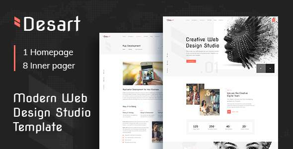 Desart - Creative Web Design Studio PSD Template TFx