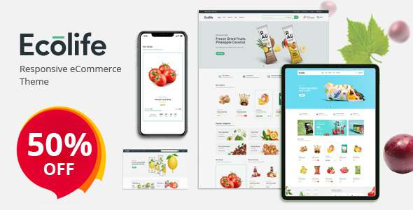 Ecolife - Organic Food Cosmetic amp Multipurpose Opencart Theme TFx