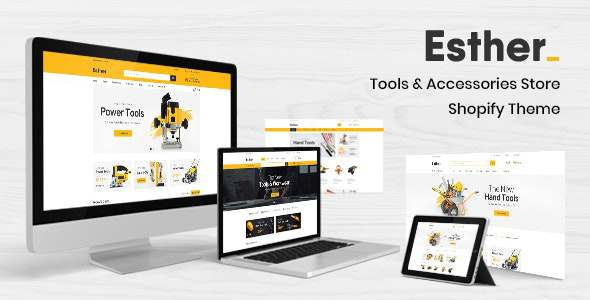 Esther - Tools amp Accessories Store Shopify Theme TFx