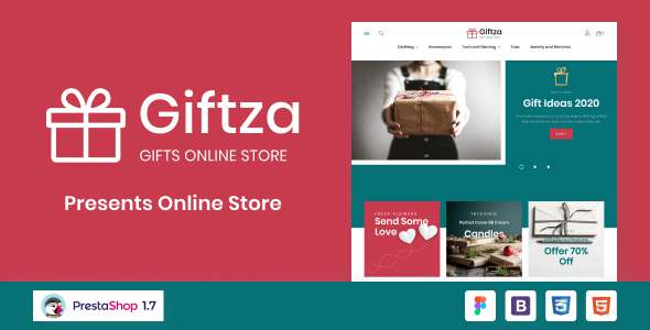 Giftza - Gifts and Presents Online Store PrestaShop Theme TFx