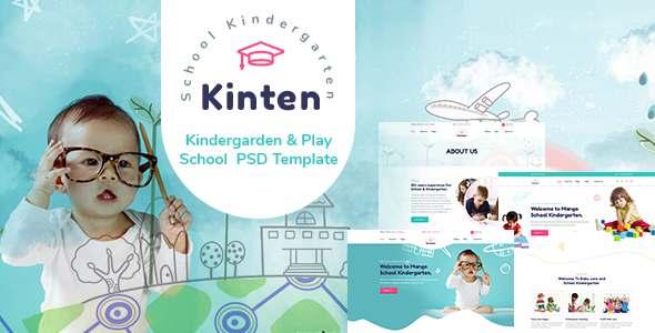 Kinten - Kindergarden amp Play School PSD Template TFx