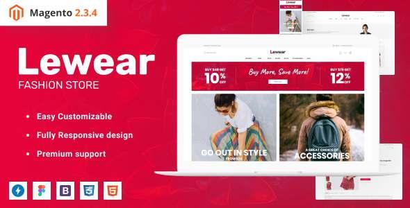 Lewear - Fashion eCommerce Design Magento Theme TFx