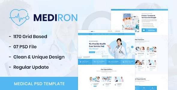 Mediron - Health amp Medical PSD Template TFx