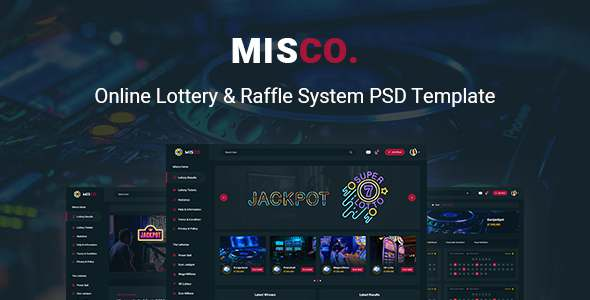 Misco - Online Lottery amp Raffle System PSD Template TFx