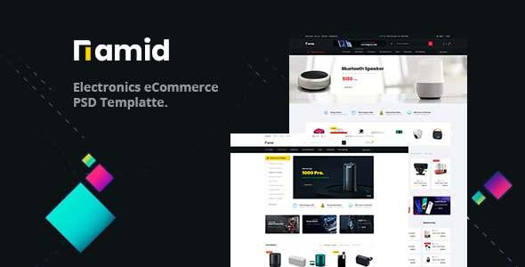 Namid - Electronics eCommerce PSD Template TFx